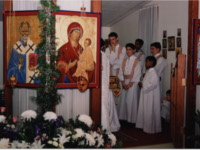 Altar servers in the 1980s