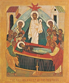 Icon of the Dormition by Maria Struve