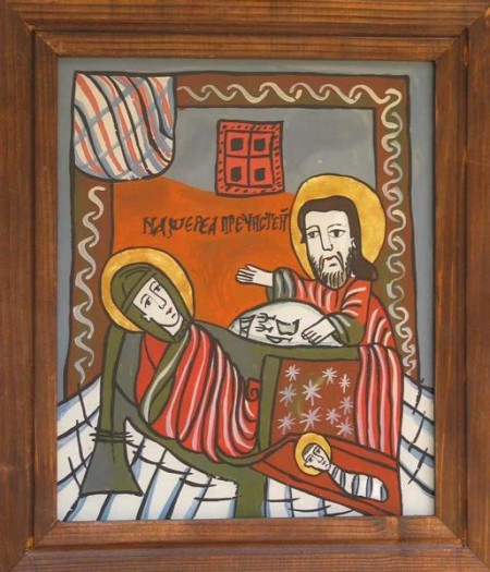 nativity of the virgin romanian icon