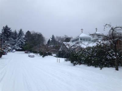 Sunday Liturgy Cancelled 2/9…dangerous roads