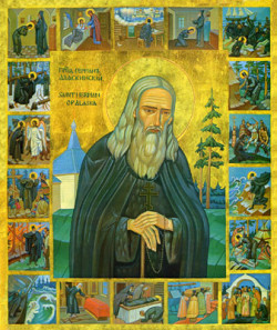 st. herman w: scenes from his life
