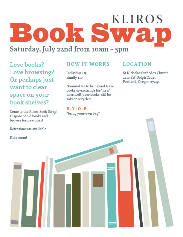 Book Swap to Benefit Kliros Choir