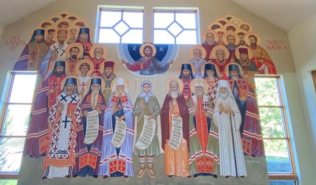 Mural of American Saints